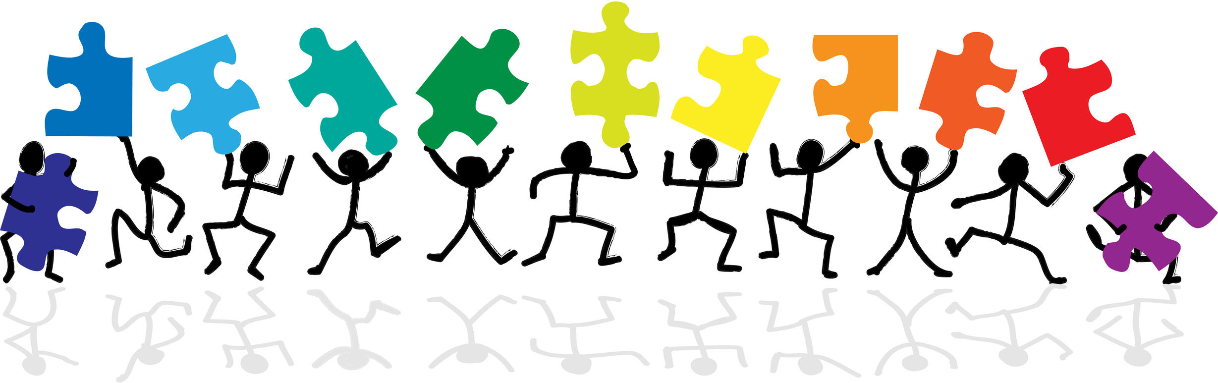stick figure jigsaw puzzle